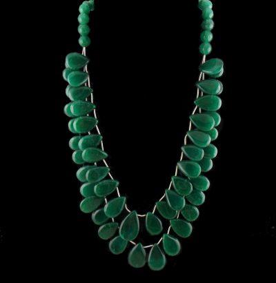 Natur Smaragd Collier - Schmuck - Unikat