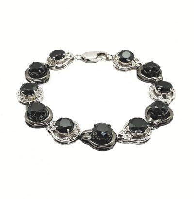 Moissanit Armband mit Rohdiamanten Handgefertigt Schmuck Sterlingsilber