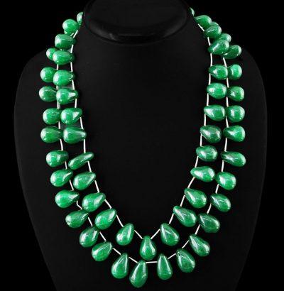 Natur Smaragd Collier handgefertigt