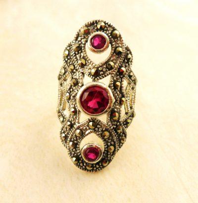 Rubin Markasit Ring Einzelstück