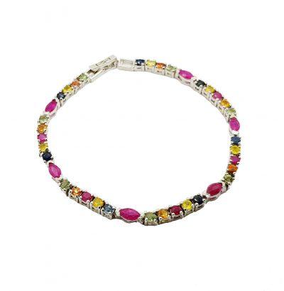 Saphir Rubin Armband vergoldet - Schmuck - Einzelstück