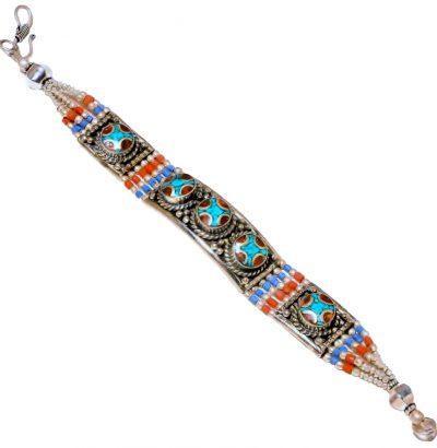 "Tibetanisches Armband ""Nepali"" Schmuck handgefertigt Unikat"