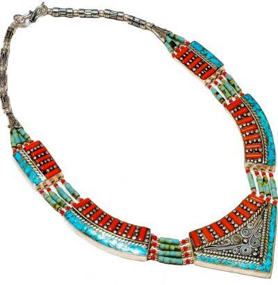 """Tibetanisches Collier """"Navajo"""" - Schmuck - Unikat - handgefertigt"""