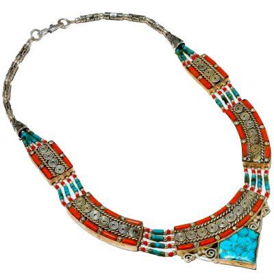"Tibetanisches Collier ""Nepali"" - Schmuck - Unikat - handgefertigt"