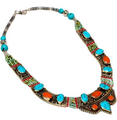 "Tibetanisches Collier ""Nepali"" Schmuck unikat handgefertigt"