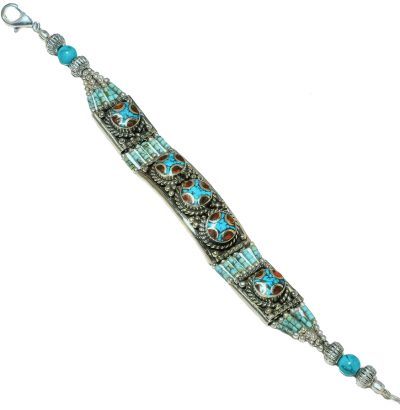 Tibetanisches Armband mit Türkis & Koralle - Schmuck - Unikat