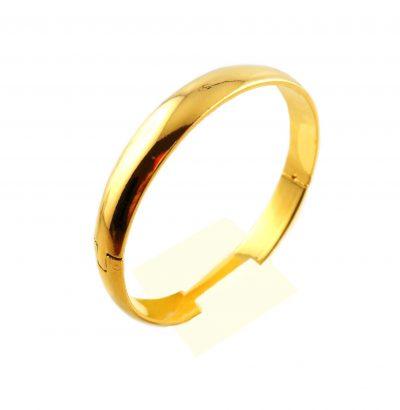 """Solide Armspange """"Gold"""" Schmuck vergoldet"""
