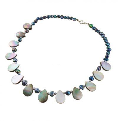 Abalone Collier - handgefertigt Einzelstück Schmuck