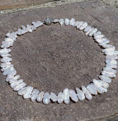 Außergewöhnliches Perlen Collier Einzelstück Schmuck
