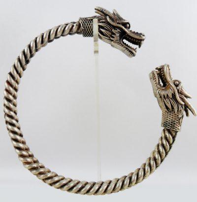 Miao Silber Drachen-Armspange handgefertigt Schmuck