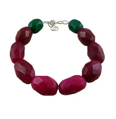 Natur Rubin Smaragd Armband handgefertigt Schmuck