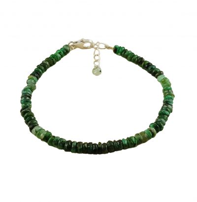"Natur Smaragd Armband ""Heshi"" - handgefertigt Schmuck"