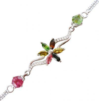 Turmalin Blüten Armband multicolor handgefertigt Schmuck
