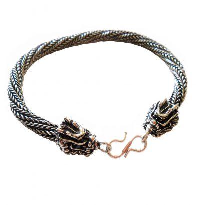 Drachen Armband - versilbert unisex Einzelstück Schmuck