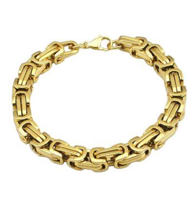 "Edelstahl Armband ""Byzantine Box"" - Schmuck goldfarben"