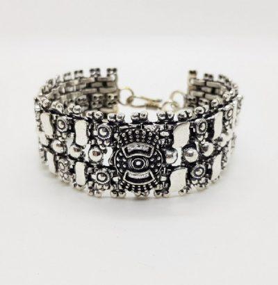 """Armband """"Kanoa"""" versilbert - Schmuck Einzelstück unisex"""