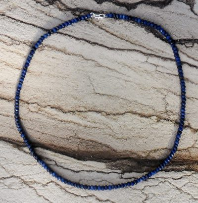 Facettierte Saphir Halskette - unisex Schmuck