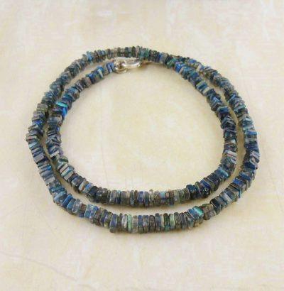 """Labradorit Halskette """"Blue flash"""" - handgefertigt Einzelstück Schmuck"""