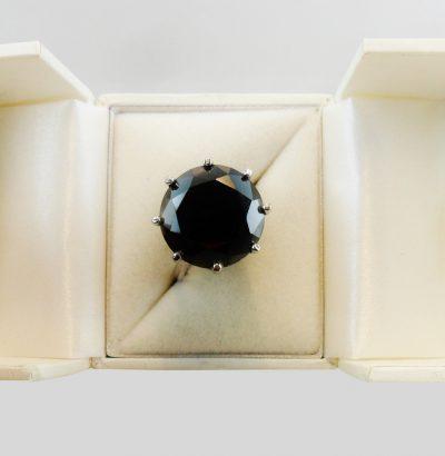 Handgefertigter Moissanit Ring Herrenring 60 Sterlingsilber