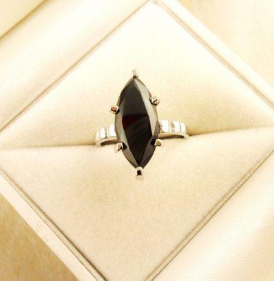 """Moissanit Ring """"Round Cut"""" handgefertigt Sterlingsilber Einzelstück Damenring 54 Verlobungsring Schmuck"""