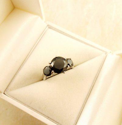 """Moissanit Ring """"Round Cut"""" handgefertigt Sterlingsilber Einzelstück Damenring Verlobungsring Schmuck"""