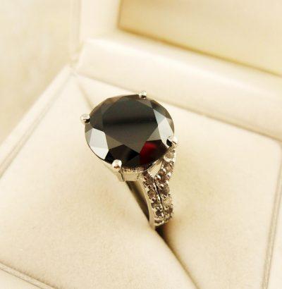 Moissanit Ring Set mit Rohdiamanten handgefertigt Sterlingsilber 54 Schmuck