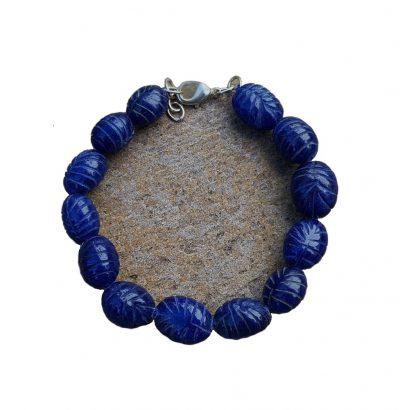 Natur Saphir Armband handgefertigt Einzelstück Schmuck