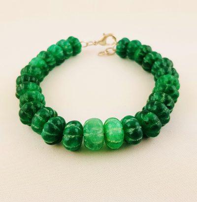 Natur Smaragd Armband handgefertigt grün Schmuck Einzelstück