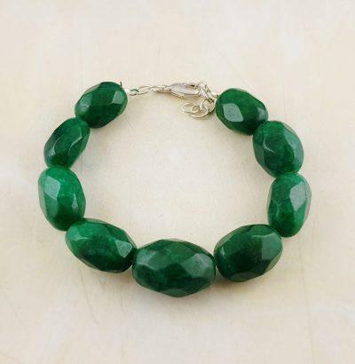 Natur Smaragd Armband grün - handgefertigtes Einzelstück Schmuck