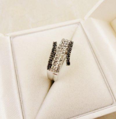 Eleganter Ring mit Rohdiamanten Sterlingsilber Schmuck Verlobungsring