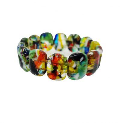 Multicolor Glasperlen Armband elastisch Sommerschmuck Schmuck Modeschmuck