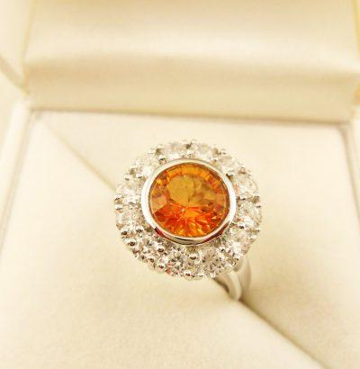 Ring mit Citrin & Topas - Einzelstück Sterlingsilber Schmuck