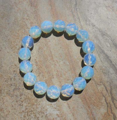 Elastisches Opalit Armband - Einzelstück Schmuck