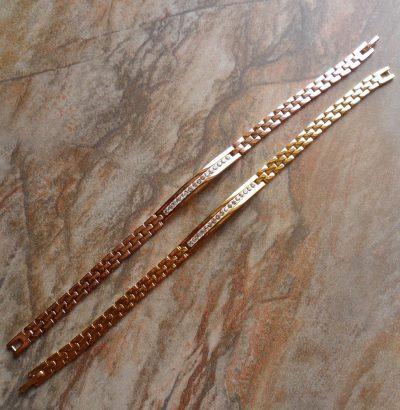 Armband mit Cubic Zirkonia 9 Karat Gold gefüllt Schmuck Unisex