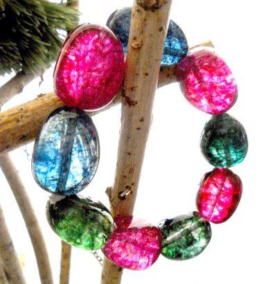 Handgefertigtes Armband aus hochwertigen Bergkristall-Nuggets - Einzelstück Schmuck