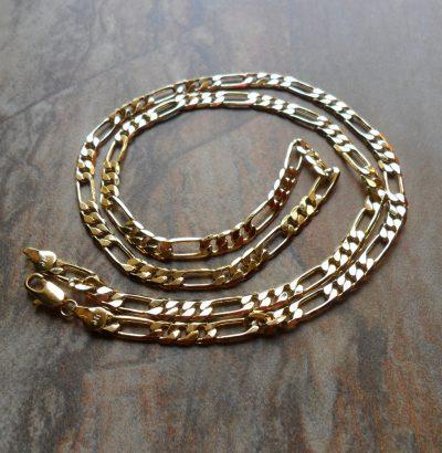 Figaro Halskette 9 Karat Gold filled Gelbgold unisex Schmuck