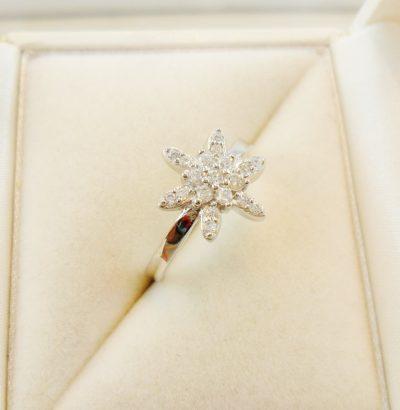 Funkelnder Topas Ring Stern Größe 54/7 (US) Sterlingsilber Verlobungsring Schmuck