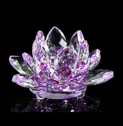 Handgefertigte Kristallglas Lotusblume Geschenkidee Briefbeschwerer Dekoration
