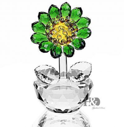 Handgefertigte Kristallglas Sonnenblume Briefbeschwerer Dekoration Geschenkidee