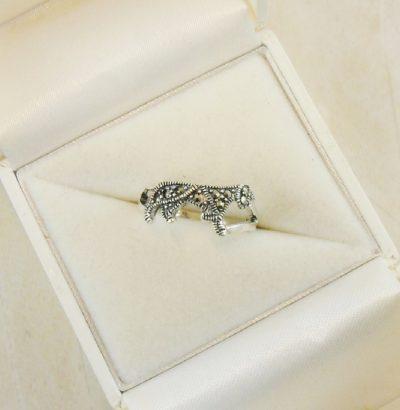 Markasit Ring Sterlingsilber Größe 57 (18,1 mm Ø) bzw. 8 (US) Verlobungsring Schmuck