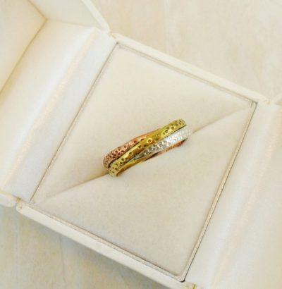 Handgefertigter Tricolor Spinner Ring - Einzelstück Schmuck