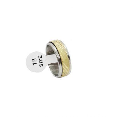 Edelstahl Spinner Ring bicolor Drehring unisex Schmuck